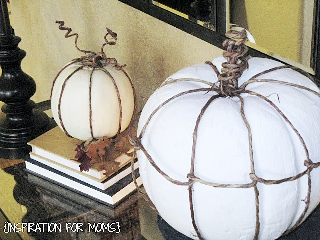 Pumpkins with Grapevine