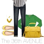 Early Fall Outfits by the36thavenue.com #gray #yellow #outfits