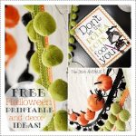 Halloween Free Witch Printable and Decor