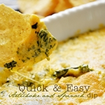 Quick and easy delicious Artichoke Spinach Dip by the36thavenue.com