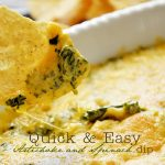 Quick and Cheesy Artichoke Spinach Dip