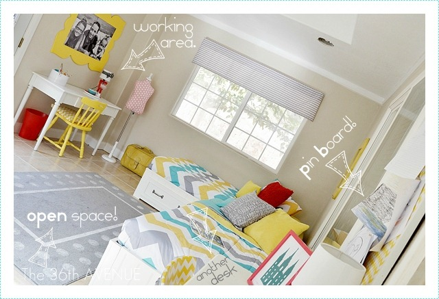 How to decorate a shared bedroom and room tour by the36thavenue.com