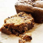 Delicious Pumpkin Bread with Brown Sugar and Chocolate Topping by the36thavenue.com