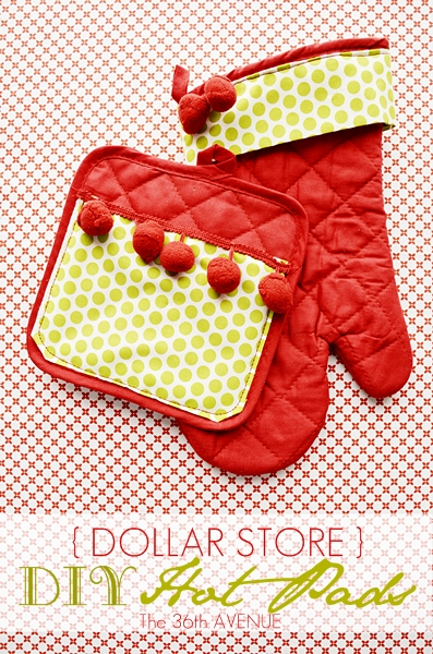 Dollar Store DIY Hot Pads by the 36thavenue.com Perfect for Christmas Gifts!