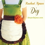 DIY Ruched Apron by shoprubyjean.com via the36thavenue.com