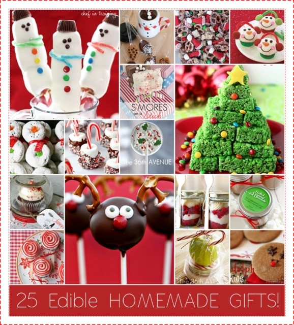25 Edible Homemade Christmas Treats at the36thavenue.com Delicious and adorable!