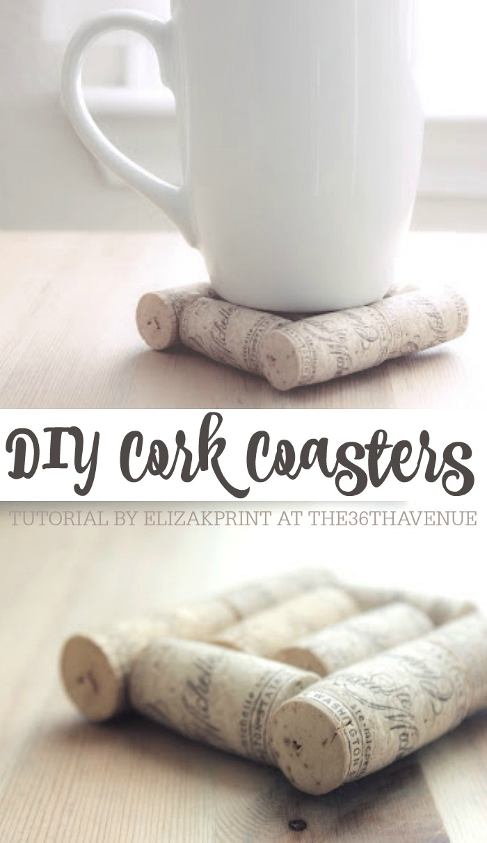 DIY Cork Coaster. These handmade coasters would make the best gift!