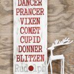 DIY Rudolph Sign