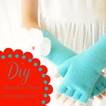 DIY Fingerless Gloves by shoprubyjean.com via the36thavenue.com