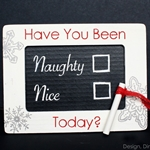 Naughty or Nice Chalkboard Frame