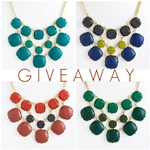 Giveaway Square Bubble Necklace Set