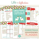 Adorable Christmas Countdown Planner Printable by Life-n-Reflection