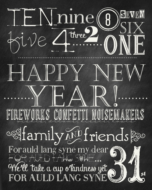 New Years Chalkboard Free Printables The 36th Avenue