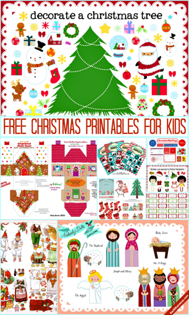 Free Christmas Printables for KIDS at the36thavenue.com… Cutest prints and activities!