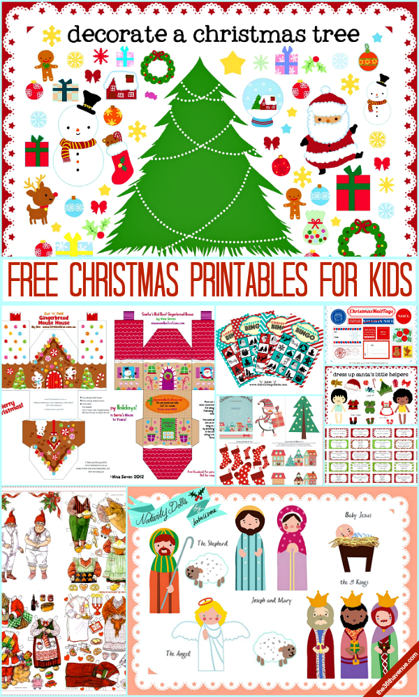 Adorable Christmas Printables for Kids at the36thavenue.com These are
