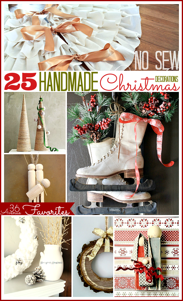 25 Handmade Christmas Decorations  The 36th AVENUE ~ 204426_Christmas Decoration Ideas Handmade