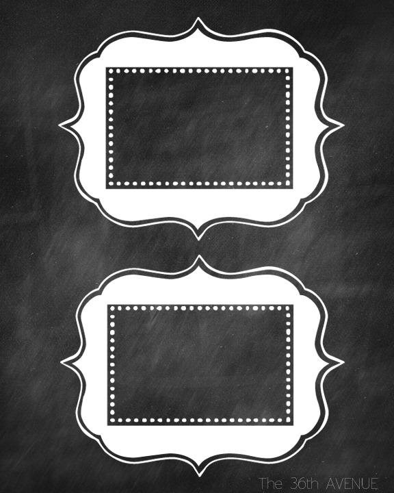 Adorable image with free printable chalkboard labels