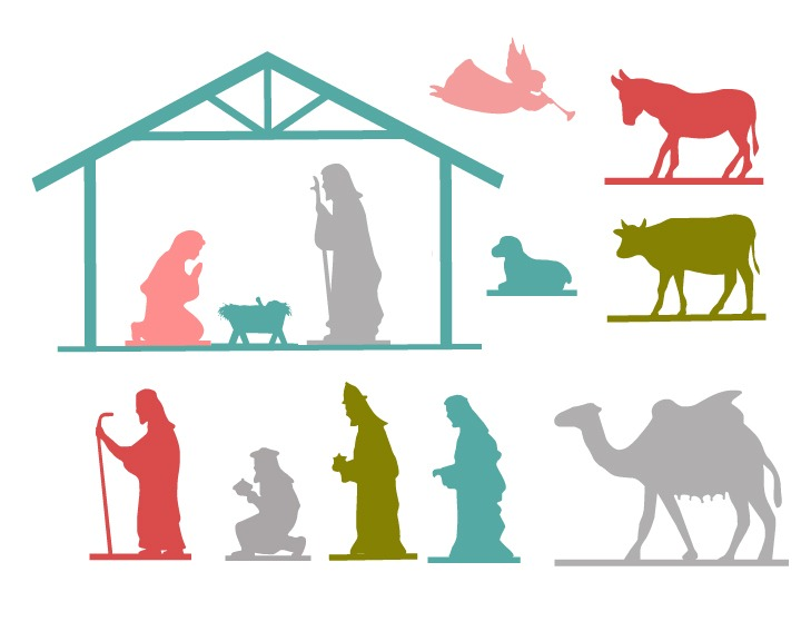 graphic relating to Free Printable Nativity Scene known as Nativity Free of charge Printable - The 36th Street