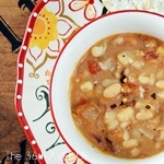 Beans and White Corn Soup Recipe by the36thavenue.com