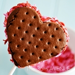 Sandwich Ice Cream Hearts on a Stick
