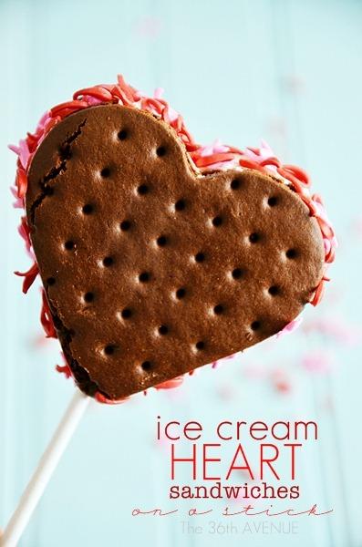 Sandwich Ice Cream Hearts Tutorial by the36thavenue.com