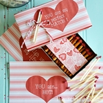 Valentines Edible Box of Matches and free printable by the36thavenue.com