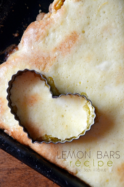 Lemon Bars made with Cake Mix... SO DARN GOOD! Pin it now and bake it later. the36thavenue.com