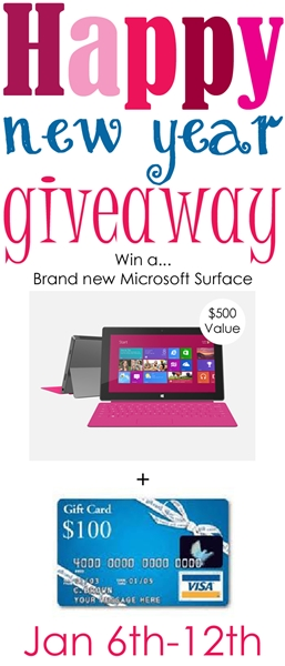 Amazing Microsoft Surface plus 100 Dollar Visa Giveaway!
