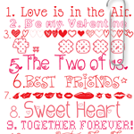 Valentine Free Printables and link to downloads over at the36thavenue.com