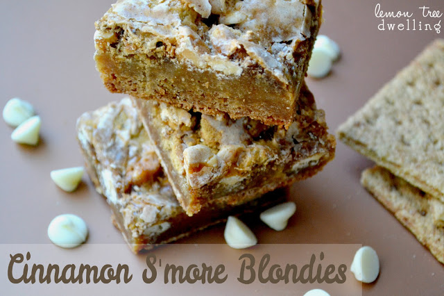 Cinnamon S'more Blondies