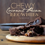 Chewy Coconut Pecan Brownies. So delicious! #recipes the36thavenue.com