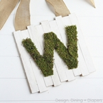 Monogram Moss Pallet Sign Tutorial