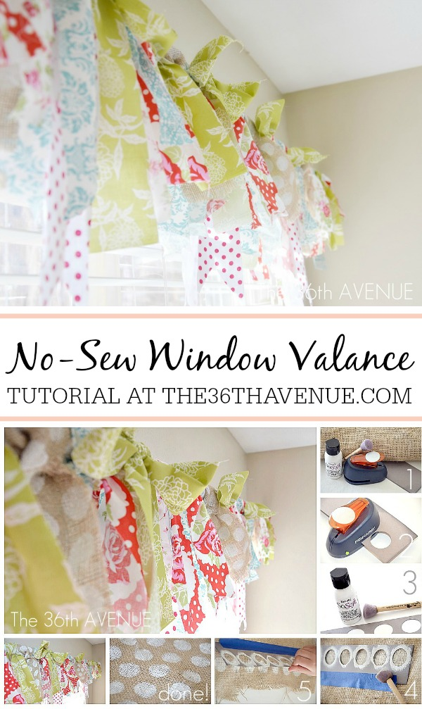 NO SEW Window Valance  at the36thavenue.com