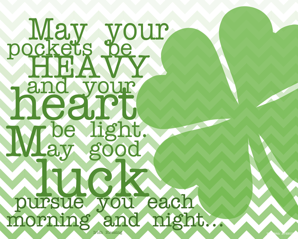 graphic about St Patricks Day Printable named St. Patricks Working day Printable - The 36th Road