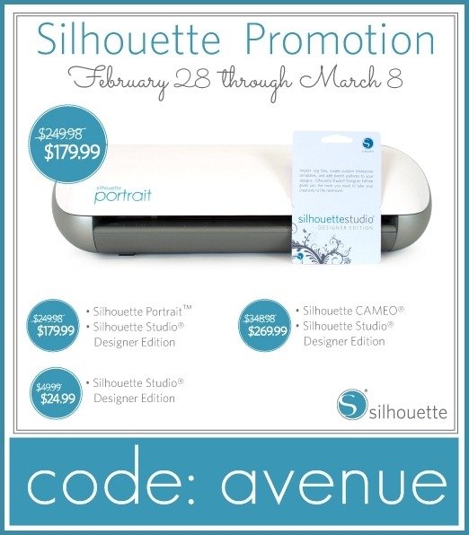 Silhouette Portrait Giveaway and great deals. the36thavenue.com