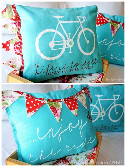 DIY Stenciled Pillows the36thaavenue.com