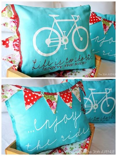 DIY Stenciled Pillows the36thaavenue.com