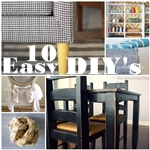 10 Affordable and Easy DIY Projects for the Home. #DIY #Home the36thavenue.com