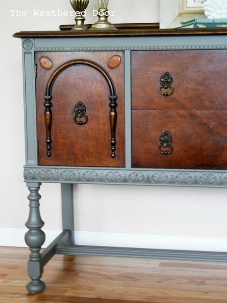 grey and wood buffet 12 WD