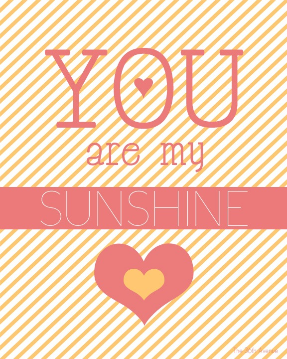 picture about You Are My Sunshine Free Printable identified as Oneself are my Sunlight Printable - The 36th Road