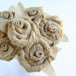 Rosette Tutorial and Burlap Bouquet