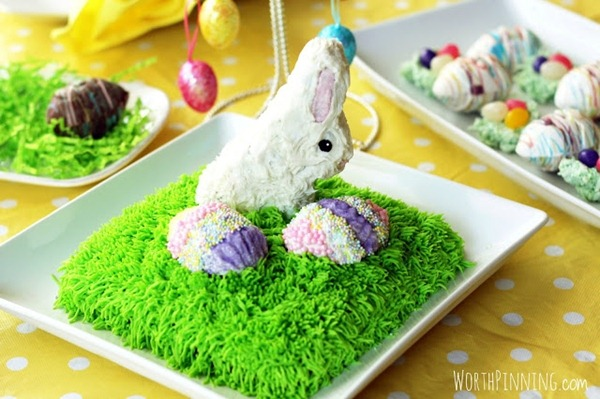 Chocolate Egg & Bunny Cake