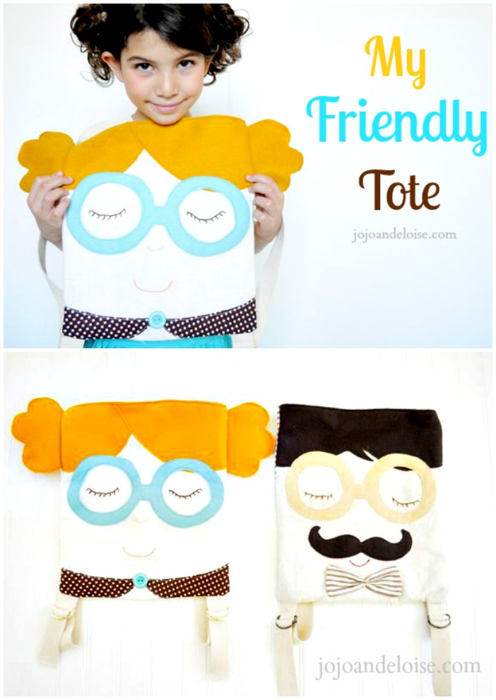 DIY Tote Tutorial - Easy and adorable kid backpacks.