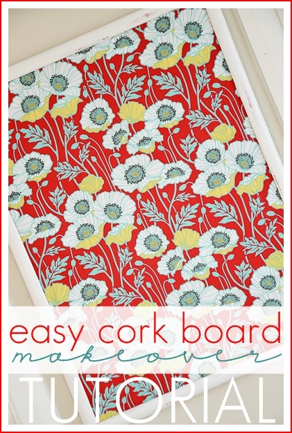DIY Easy Cork Board Cover. #DIY #office the36thavenue.com