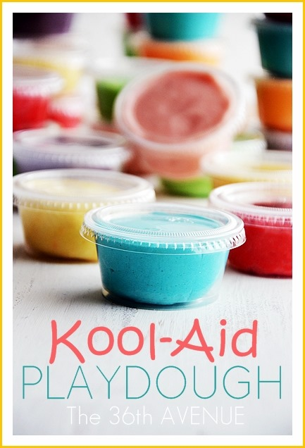 Kool-Aid Playdough Recipe. the36thavenue.com