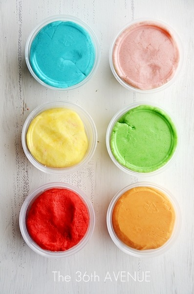 This homemade Play Dough Recipe is super soft and smells delicious!