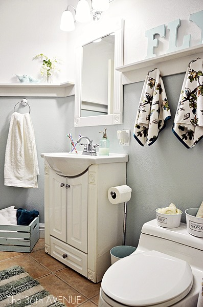 Bathroom Makeover and design tips. the36thavenue.com