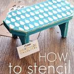 How to stencil easily. the36thavenue.com