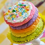 Three Ingredients Rainbow Cake Mix Cookies