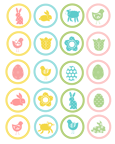 Free Easter Cupcake Toppers Printable. the36thavenue.com